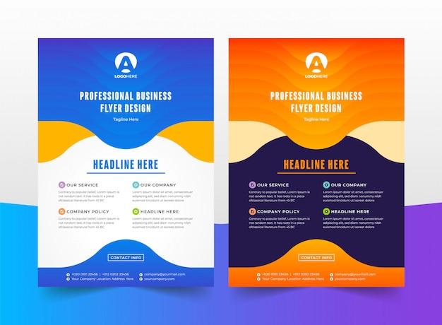 Professional flyer template Premium Vector