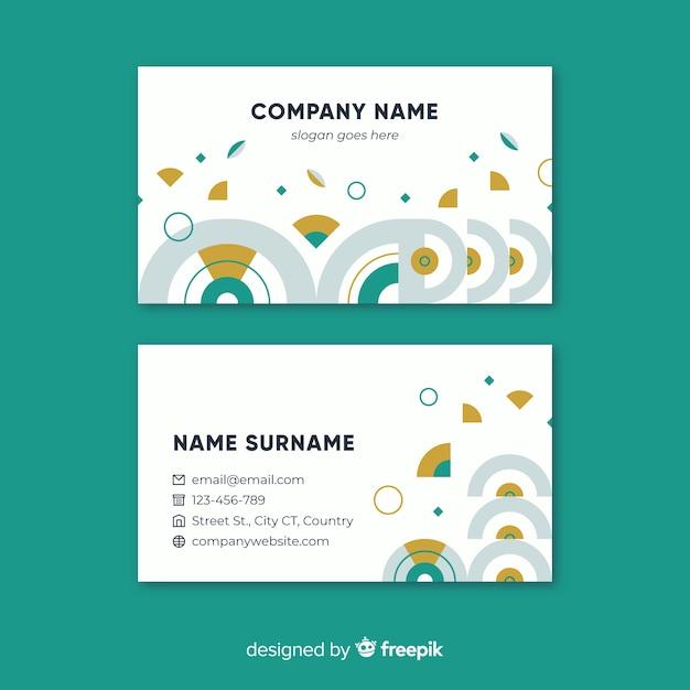Professional geometric business card template vector free download professional geometric business card template free vector friedricerecipe Choice Image