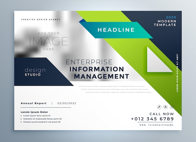 Professional geometric creative business brochure template Free Vector