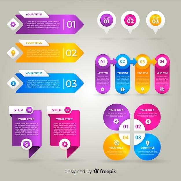 Professional gradient infographic Free Vector