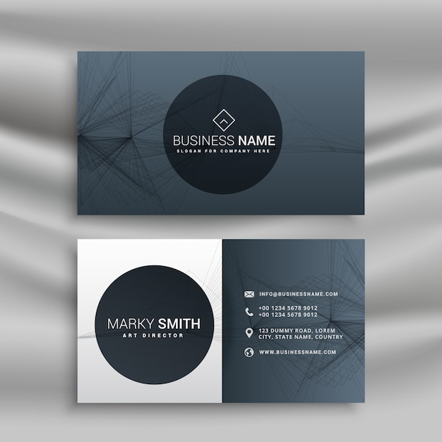 Professional gray business card vector free download professional gray business card free vector reheart Gallery