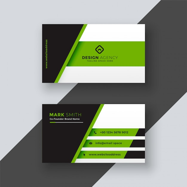 Professional green business card template vector free download professional green business card template free vector fbccfo Choice Image