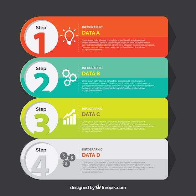 Professional infographic steps template