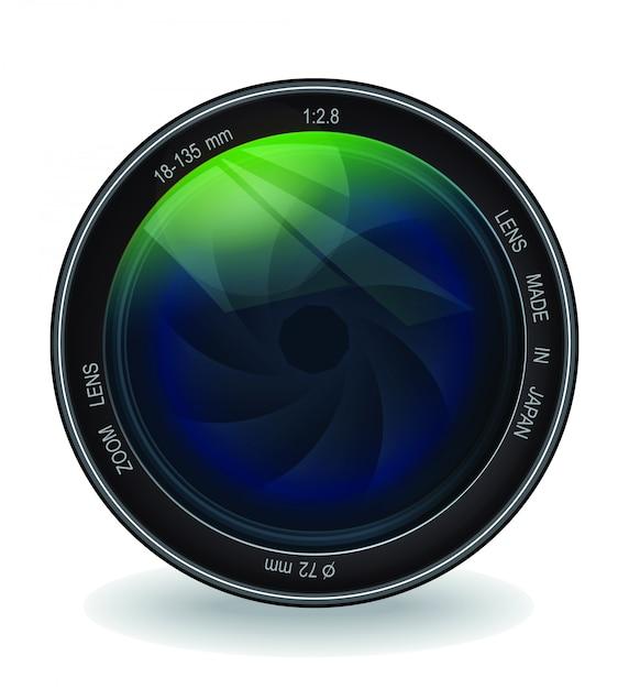 Professional lens vector Premium Vector