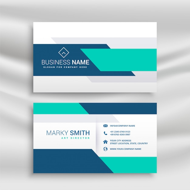 Professional medical style business card Free Vector