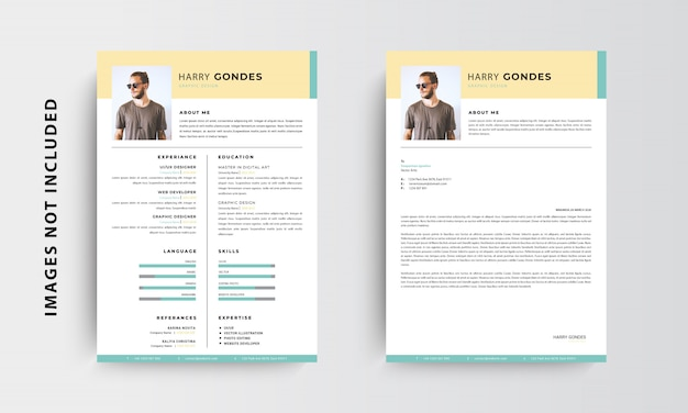 Professional Minimalist Cv Resume And Letterhead Template Design