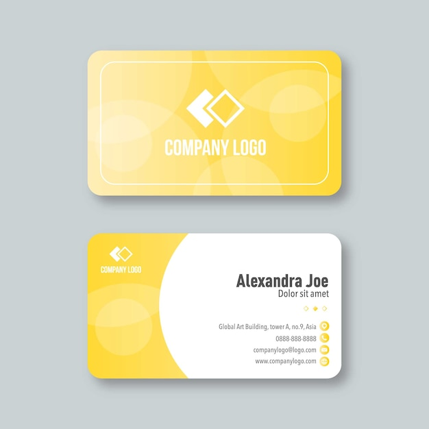 Professional and modern business card Premium Vector