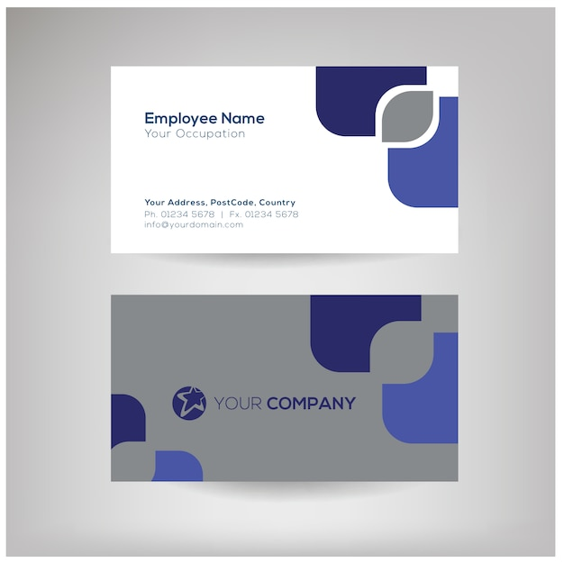 Professional name card template vector premium download professional name card template premium vector pronofoot35fo Choice Image