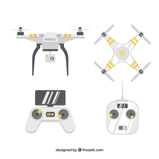 Professional pack of modern drones Vector | Free Download