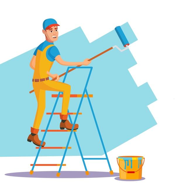 Professional painter Premium Vector