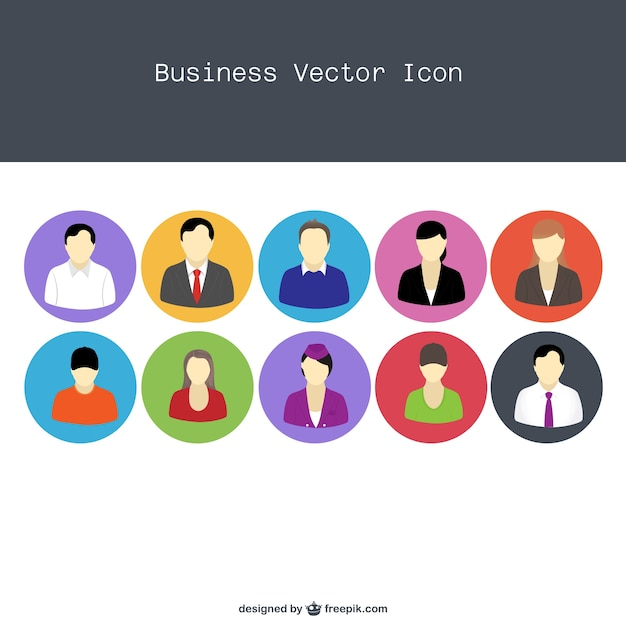 Professional people icons Free Vector