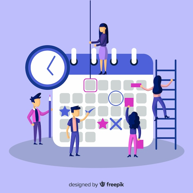 Professional planning schedule concept Free Vector