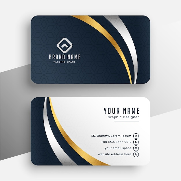 Professional premium business card template Free Vector