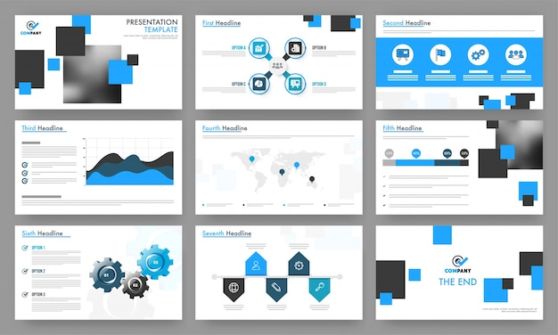professional presentation templates for your business vector