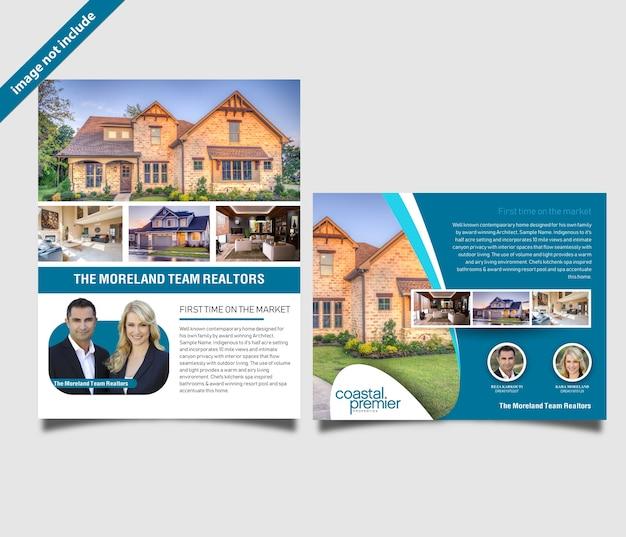 professional real estate flyer vector premium download