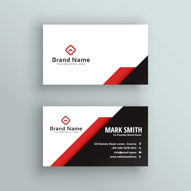 Professional red and black business card design vector free download professional red and black business card design free vector reheart