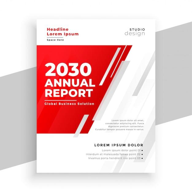 Профессиональный красный годовой отчет шаблон брошюры Бесплатные векторы