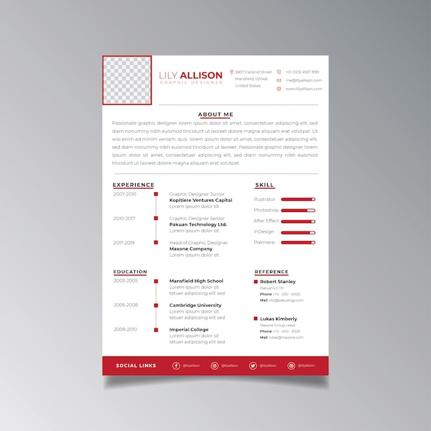 Professional Resume Design Template Minimalist. Business