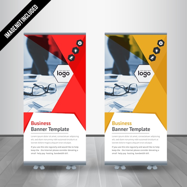 Professional Roll Up Stand Banner Design Template Vector | Premium ...