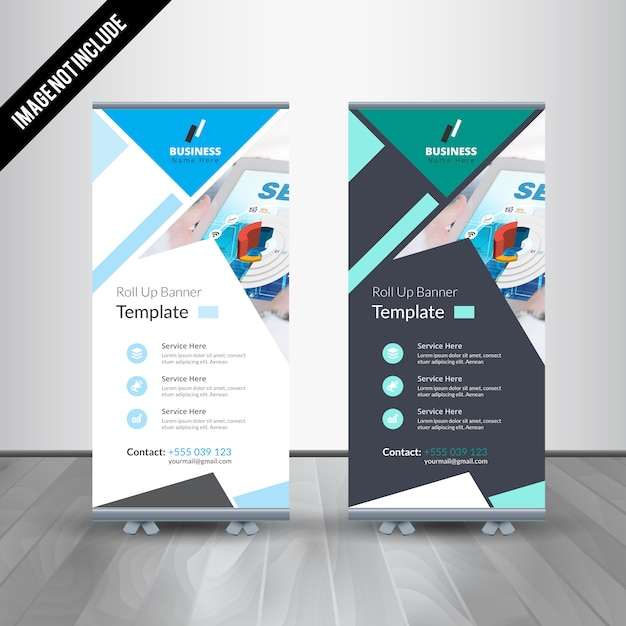 Professional Roll Up Stand Banner Vector Design Template Vector ...