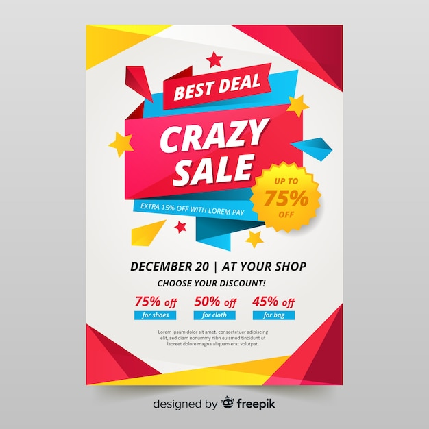 Professional sale flyer template Free Vector
