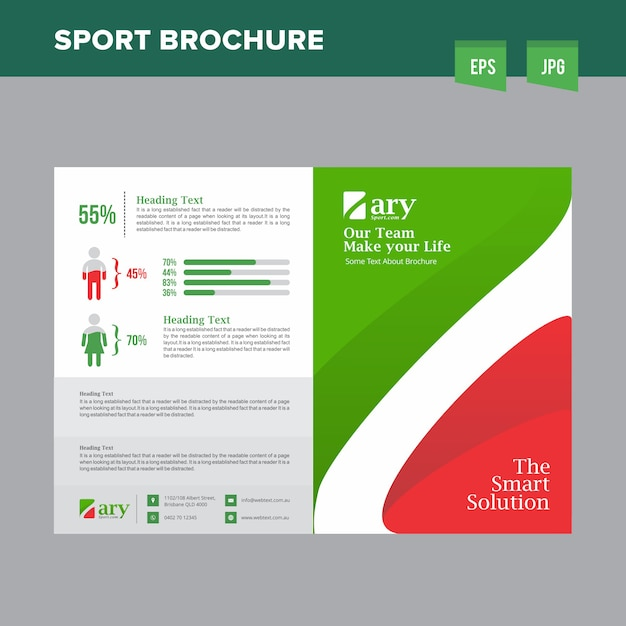 Professional Sports Club Brochure Vector  Premium Download