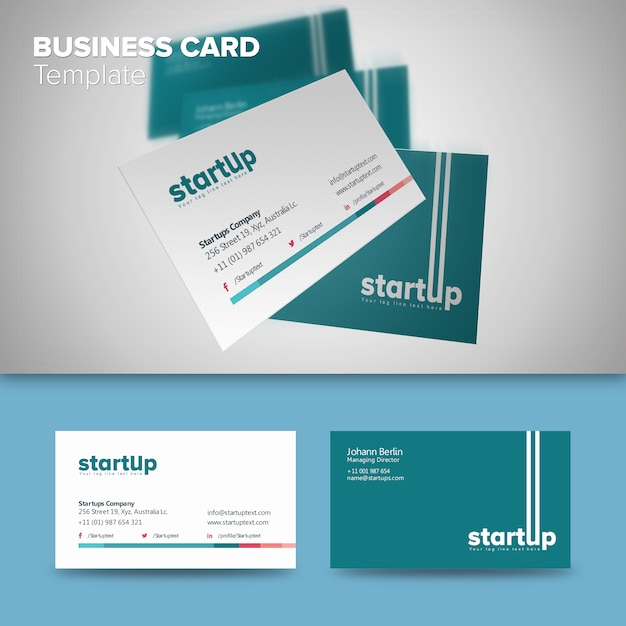 Professional startup business card template vector premium download professional startup business card template premium vector colourmoves Choice Image