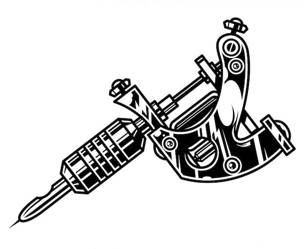 전문 문신 기계 개념 무료 벡터