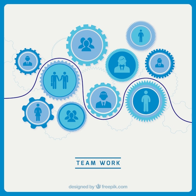 Professional team work concept