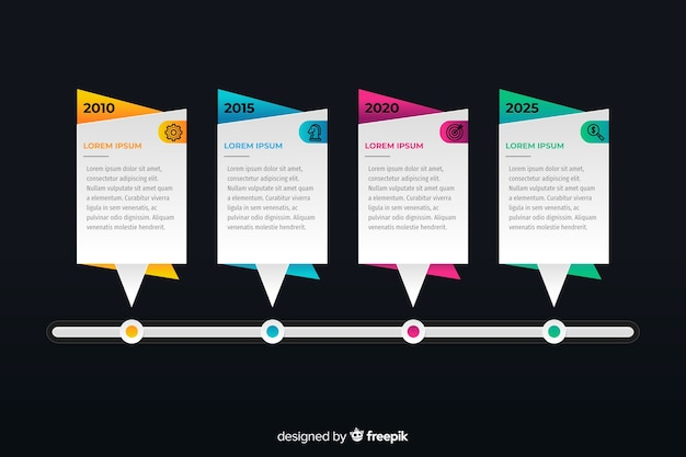 Professional timeline infographic Free Vector