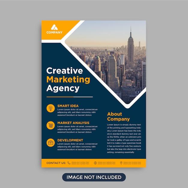 Professional trendy corporate business flyer template Premium Vector