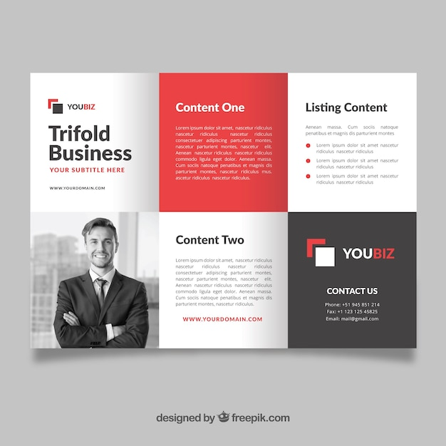 professional trifold flyer template vector free download