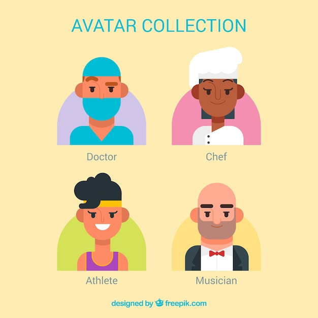 Professions avatar collection with fun\ style