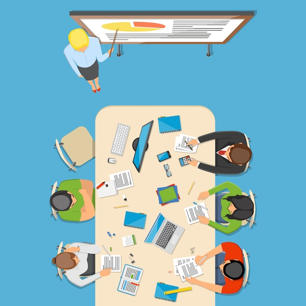 Professions top view composition Free Vector