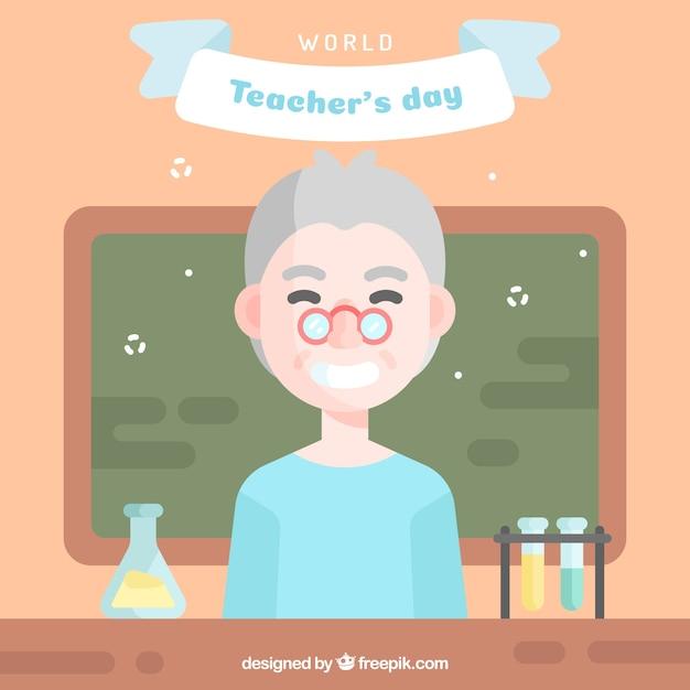 Professor of science, happy teacher's day