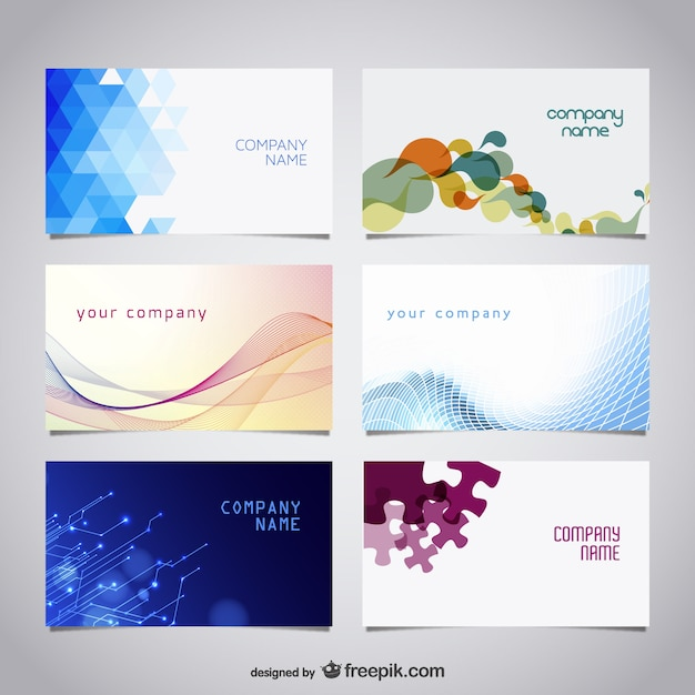 Proffesional business card set Free Vector