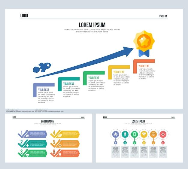 Profit Arrow Target Infographic Element Set Presentation Slide