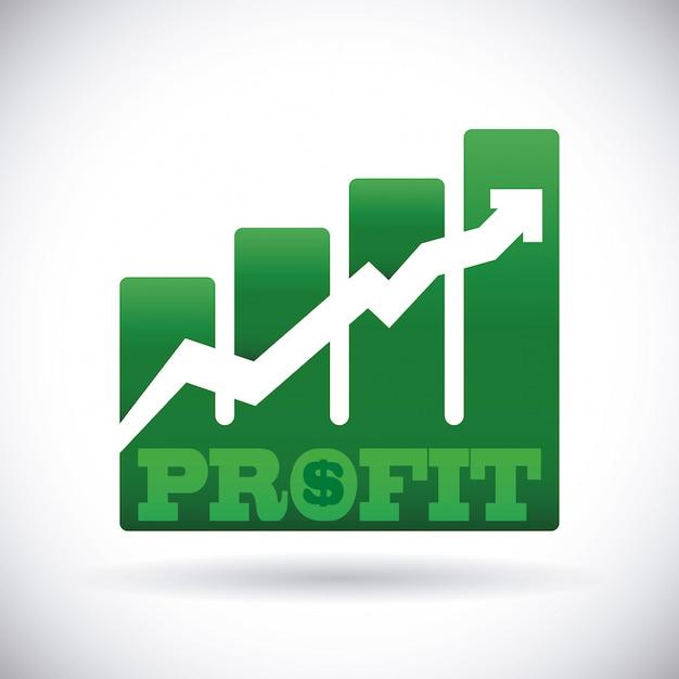 Profit design Premium Vector