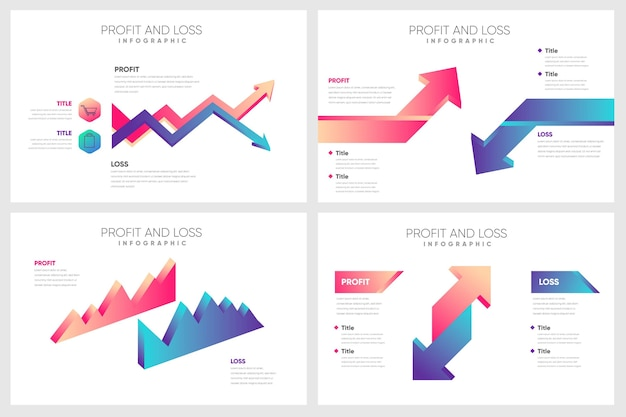 Profit and loss - infographic concept Free Vector