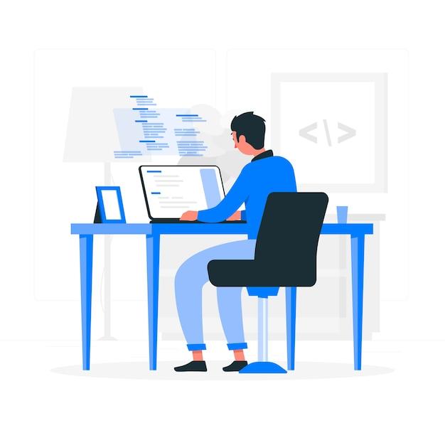 Programming concept illustration Free Vector