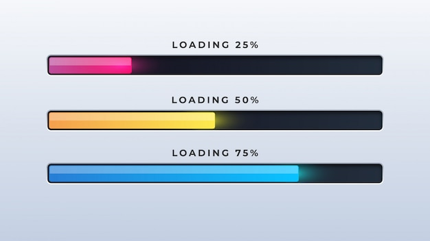 Progress loading bar Premium Vector
