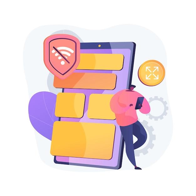 프로그레시브 웹 앱 추상 개념 그림 무료 벡터
