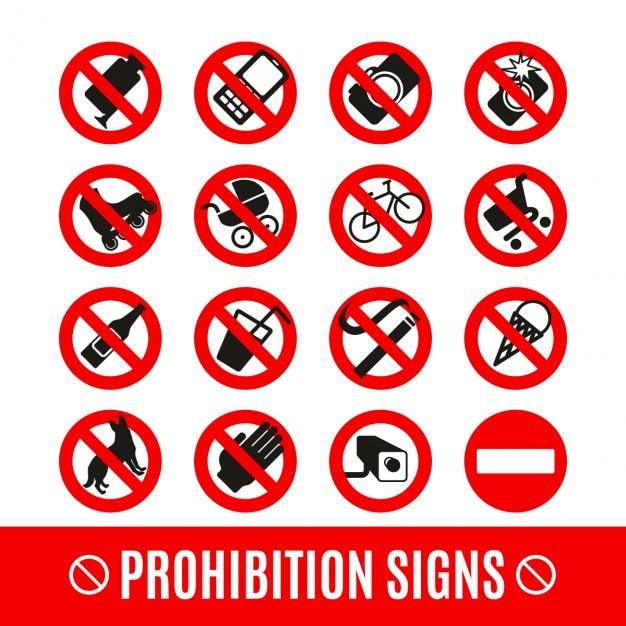 Запрет на набор символов Бесплатные векторы