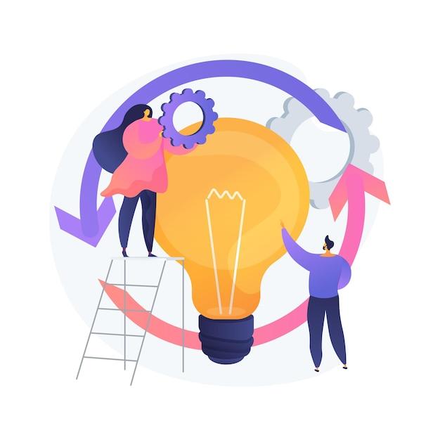 Illustrazione di vettore di concetto astratto del ciclo di vita del progetto. gestione del progetto di successo, fasi di completamento del progetto, assegnazione di compiti, business case, metafora astratta dei requisiti di risorse. Vettore gratuito