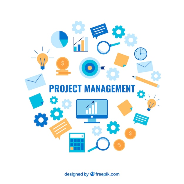 Project management concept Free Vector