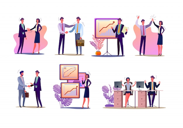 Project managers set Free Vector