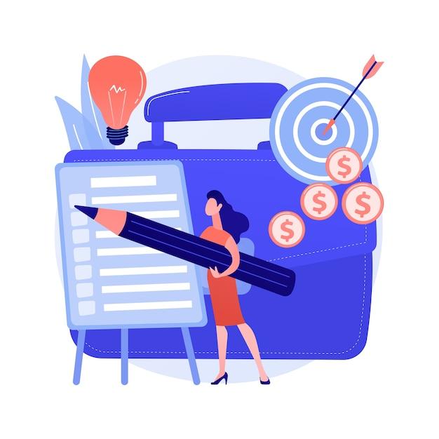 프로젝트 계획 추상적 인 개념 무료 벡터