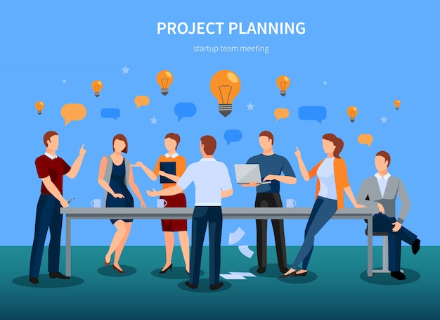 Project planning Free Vector