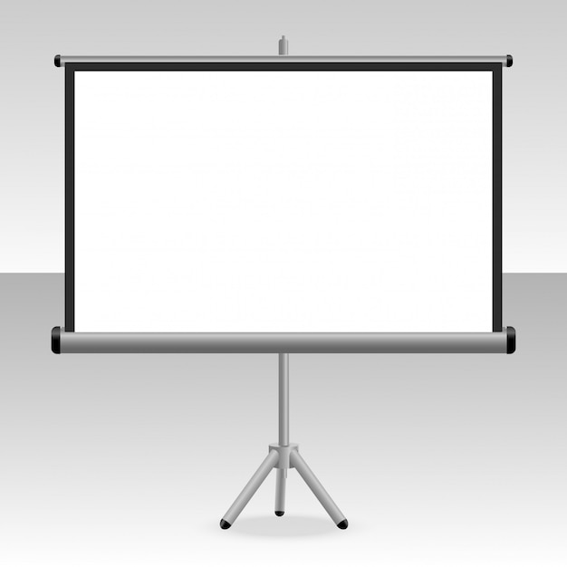 A projected screen with a tripod for your presentations Premium Vector
