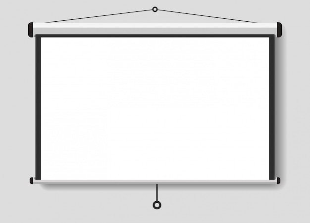 A projected screen for your presentations Premium Vector